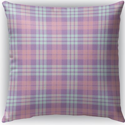 Malvina Plaid Indoor/Outdoor Throw Pillow Size: 16 H x 16 W x 4 D