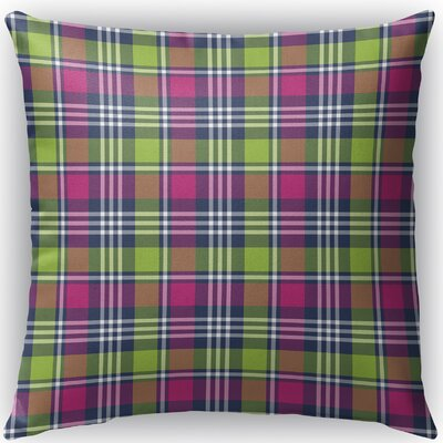 Zoelle Plaid Indoor/Outdoor Throw Pillow Size: 16