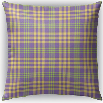 Turene Plaid Indoor/Outdoor Throw Pillow Size: 16 H x 16 W x 4 D