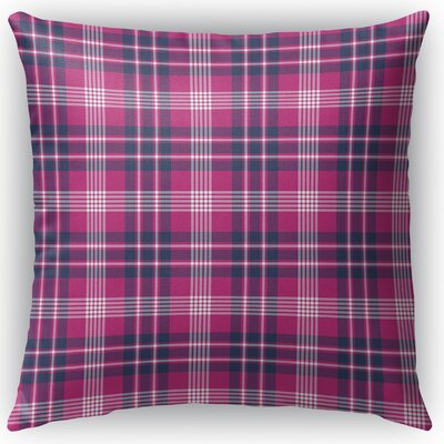 Zoelle Plaid Indoor/Outdoor Throw Pillow Size: 16 H x 16 W x 4 D