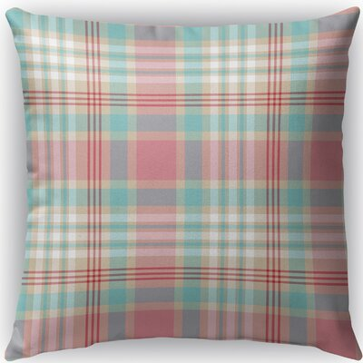 Latte Plaid Indoor/Outdoor Throw Pillow Size: 16 H x 16 W x 4 D