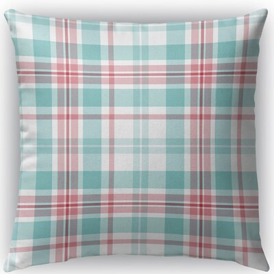 Latte Plaid Indoor/Outdoor Throw Pillow Size: 18 H x 18 W x 4 D