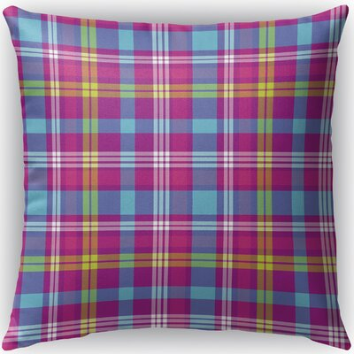 Harloe Plaid Indoor/Outdoor Throw Pillow Size: 18 H x 18 W x 4 D