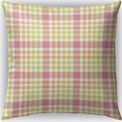 Mollien Plaid Indoor/Outdoor Throw Pillow Size: 18 H x 18 W x 4 D