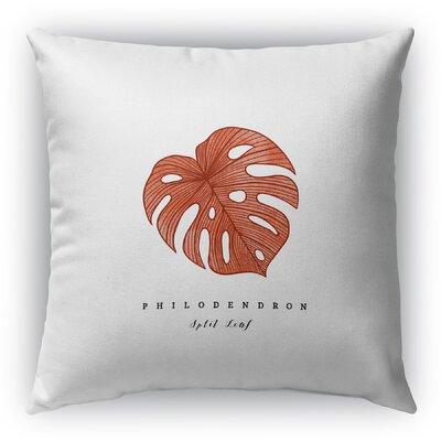 Hattie Leaf Throw Pillow Size: 16 H x 16 W x 6 D