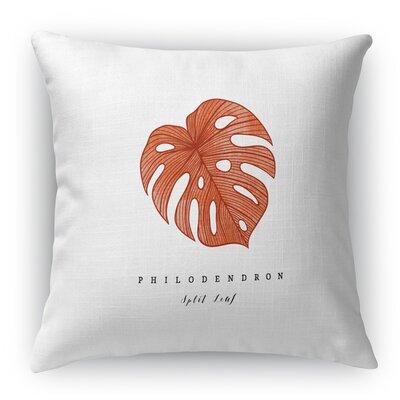 Izidora Leaf Throw Pillow Size: 16 H x 16 W x 6 D
