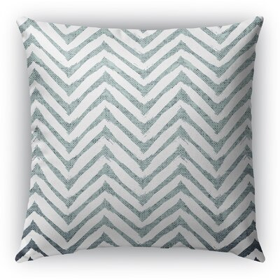 Leeanna Throw Pillow Size: 20 H x 20 W x 6 D, Color: Light Blue