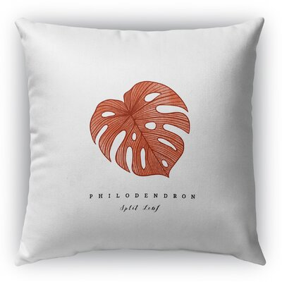 Hattie Leaf Throw Pillow Size: 18 H x 18 W x 6 D