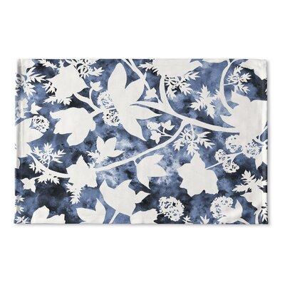 Arin Floral Flat Weave Bath Rug