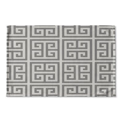 Ginger Flat Weave Bath Rug Color: Grey