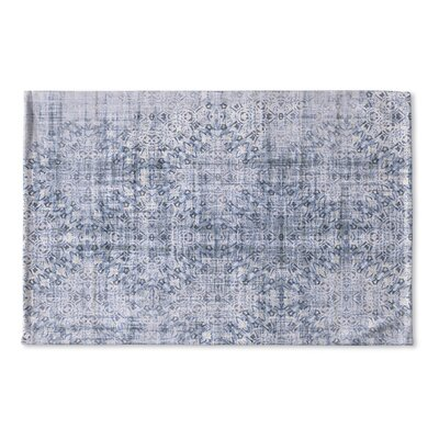 Cheyanna Flat Weave Bath Rug Color: Blue