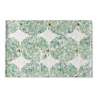 Baran Flat Weave Bath Rug Color: Green