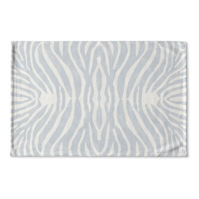 Nerbone Flat Weave Bath Rug Color: Blue/ Ivory