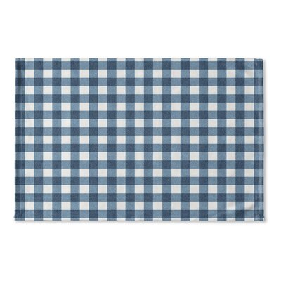 Harding Flat Weave Bath Rug Color: Blue/ Ivory