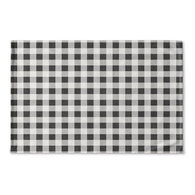 Harding Flat Weave Bath Rug Color: Black