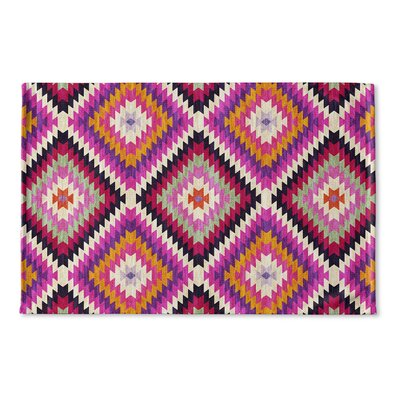 Sulien Flat Weave Bath Rug Color: Purple/ Pink/ Orange