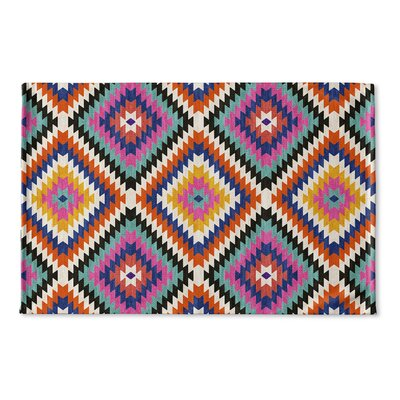 Sulien Flat Weave Bath Rug Color: Teal/ Orange/ Grey/ Blue/ Pink