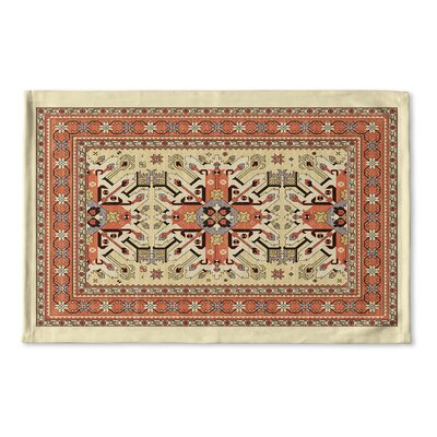 Cabo Flat Weave Bath Rug Color: Tan/ Orange/ Grey