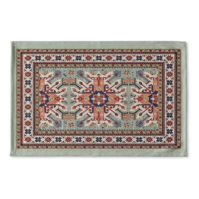 Cabo Flat Weave Bath Rug Color: Green
