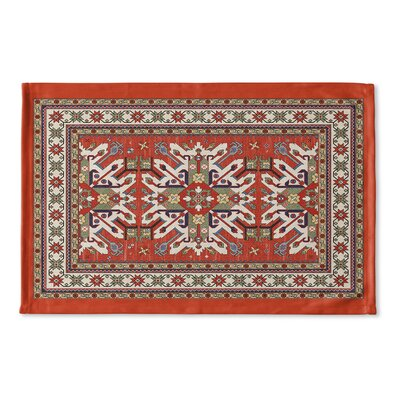 Cabo Flat Weave Bath Rug Color: Orange