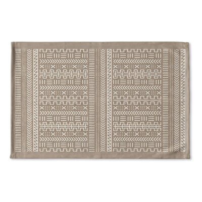 Nemeara Flat Weave Bath Rug Color: Beige/ White