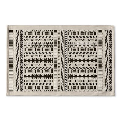 Nemeara Flat Weave Bath Rug Color: Beige/ Ivory/ Black
