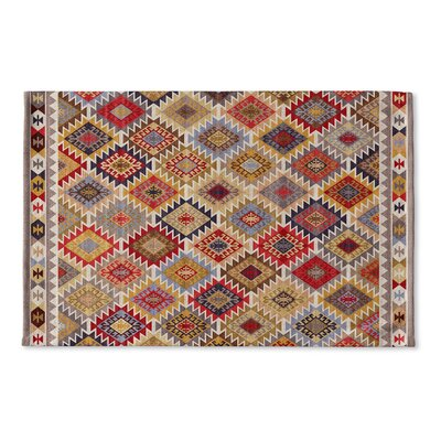 Loraine Flat Weave Bath Rug Color: Grey/ Red/ Yellow/ Gold/ Blue