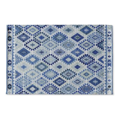 Loraine Flat Weave Bath Rug Color: Blue