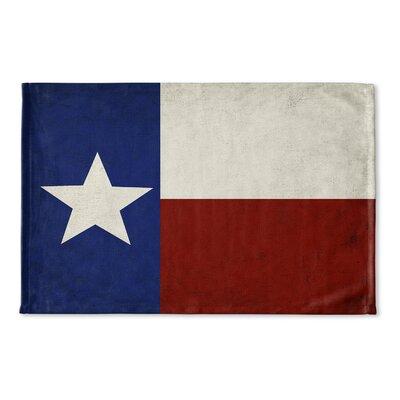 Bray Texas Flag Flat Weave Bath Rug
