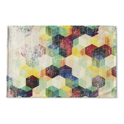 Myranda Distressed Flat Weave Bath Rug
