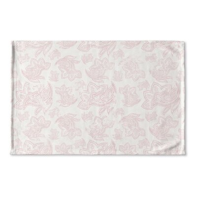 Bridgeville Distressed Flat Weave Bath Rug Color: Pink
