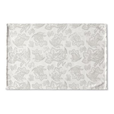 Agatha Distressed Flat Weave Bath Rug Color: Grey/ Ivory