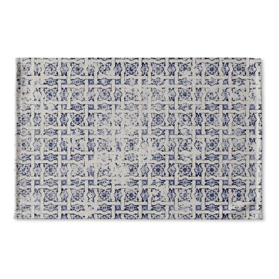 Christofor Tile Distressed Flat Weave Bath Rug