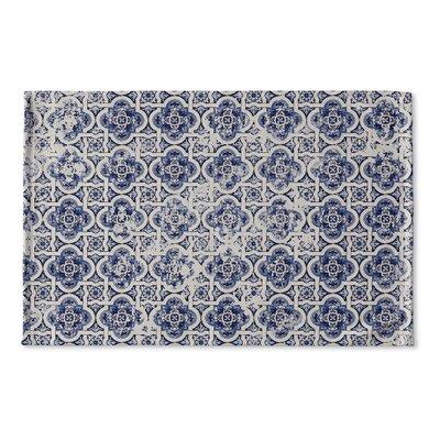 Clarette Tile Flat Weave Bath Rug