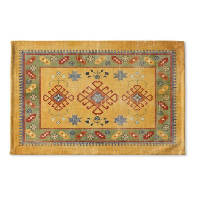 Yvonne Flat Weave Bath Rug Color: Orange/ Green/ Red