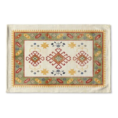 Yvonne Flat Weave Bath Rug Color: Ivory