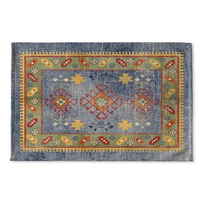 Yvonne Flat Weave Bath Rug Color: Blue/ Green/ Yellow