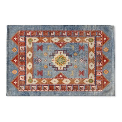 Negropo Flat Weave Bath Rug Color: Blue