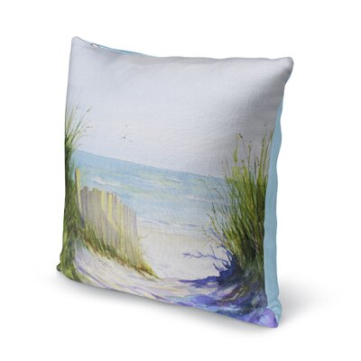 Rowe Path Throw Pillow Size: 16
