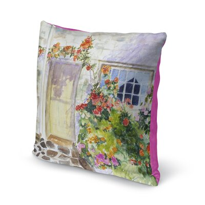 Bloomingdale Flower Entry Throw Pillow Size: 16 H x 16 W x 6 D