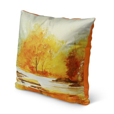 Paxtonville Stream Outdoor Throw Pillow Size: 16 H x 16 W x 6 D