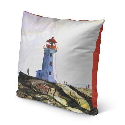 Rosette Outdoor Throw Pillow Size: 16 H x 16 W x 6 D