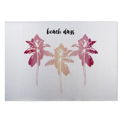 Anabella Beach Days Doormat Color: Pink / White