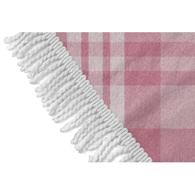 Ridgeley Plaid Round Pink Beach Towel