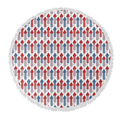 Danville Round Red/Blue Beach Towel
