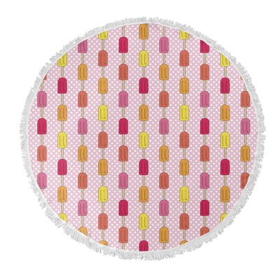 Round Pink Beach Towel