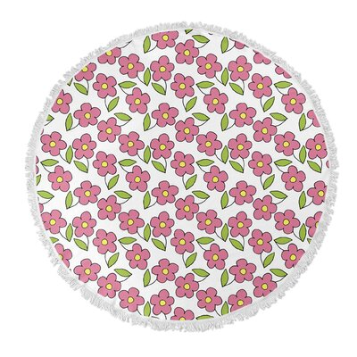 Matoury Round Pink/Green Beach Towel