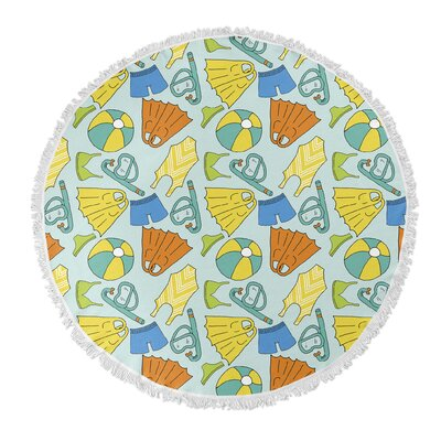 Round Blue/Yellow Beach Towel
