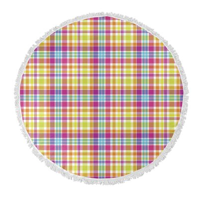Harloe Plaid Round Beach Towel