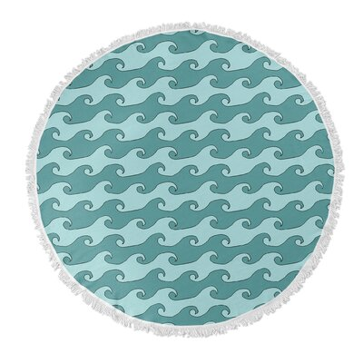 Round Turquoise/Teal Beach Towel
